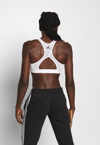 adidas Performance - DESIGNED4TRAINING WORKOUT BRA MEDIUM SUPPORT - Sportovní podprsenka - white/black - 2