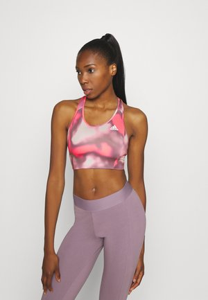 AEROREADY WORKOUT BRA LIGHT SUPPORT - Urheiluliivit - signal pink/white