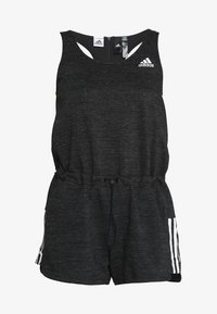 adidas Performance - ROMPER - Tracksuit - black melange/white - 6