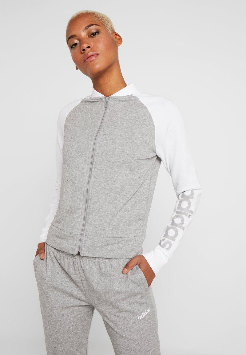 adidas Performance - NEW MARK SET - Tepláková souprava - medium grey heather/white