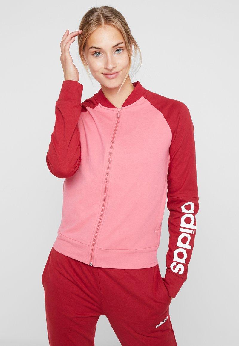 adidas Performance - NEW MARK SET - Chándal - pink,/dark red