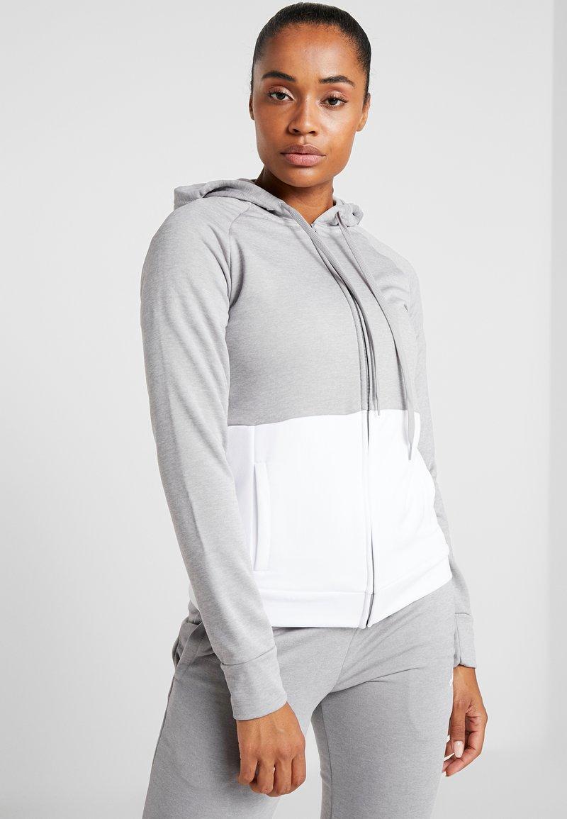 adidas Performance - LIN HOOD - Tuta - medium grey heather/white
