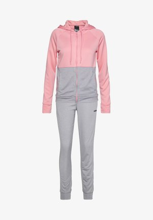 LIN HOOD - Verryttelypuku - glow pink/grey