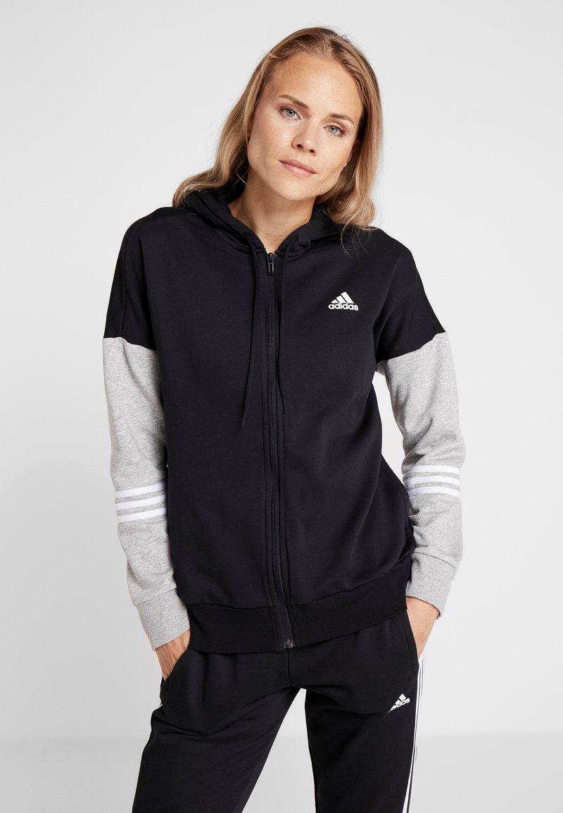 adidas Performance - ENERGIZE SET - Treningsdress - black/medium grey heather/white