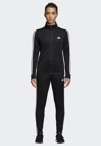 adidas Performance - TEAM SPORTS - Tracksuit - black/white - 0