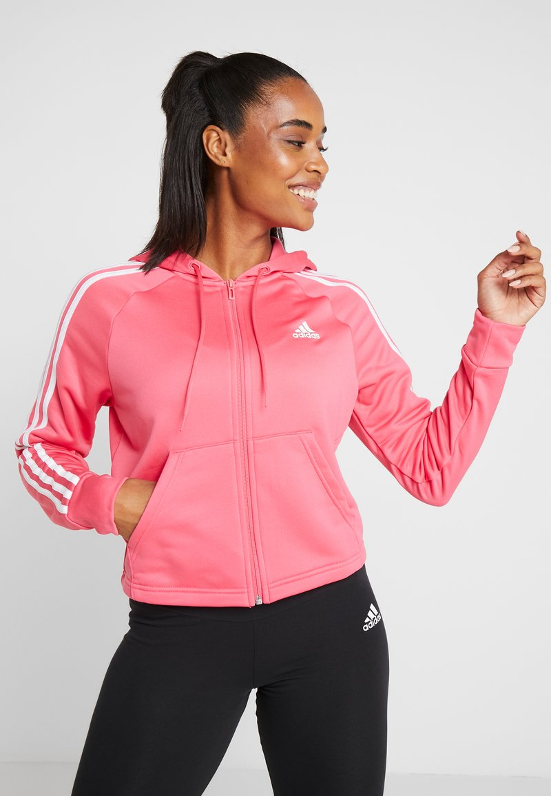 adidas Performance - HOODY TIGHT - Dres - pink