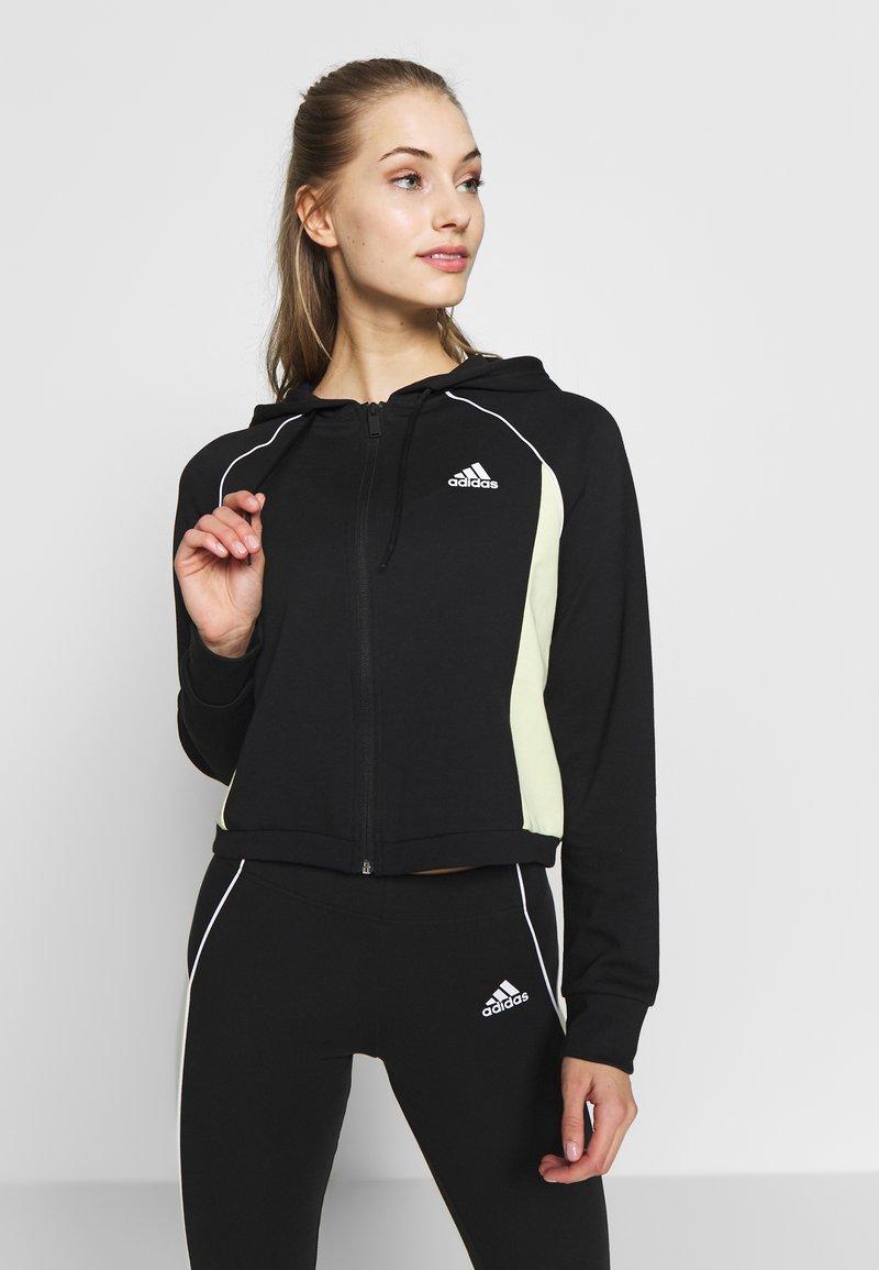 adidas Performance - SET - Treningsdress - black/yeltin