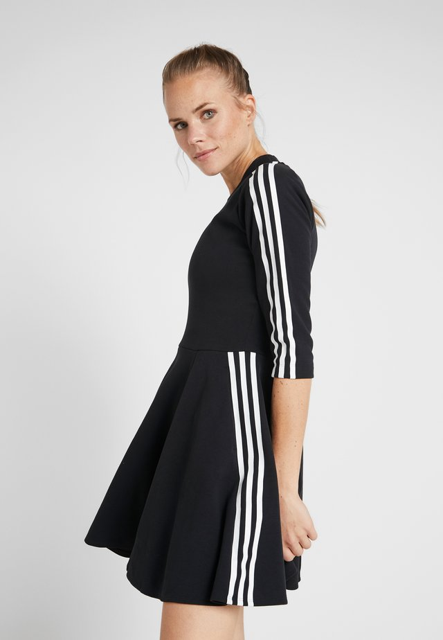 DRESS - Vestito di maglina - black
