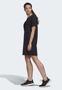 adidas Performance - MUST HAVES STACKED LOGO DRESS - Jersey dress - black - 3