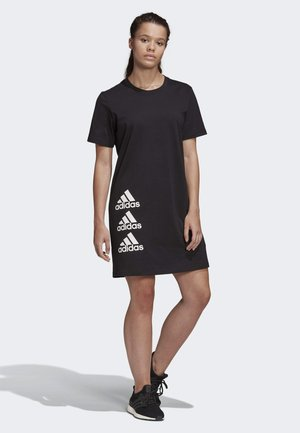 MUST HAVES STACKED LOGO DRESS - Jersey dress - black