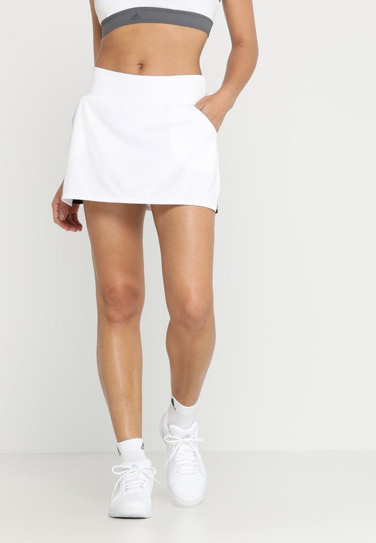 adidas Performance - CLUB SKIRT - Spódnica sportowa - white