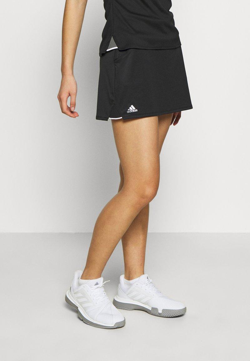 adidas Performance - CLUB SKIRT - Sportovní sukně - black/silver/white