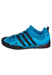 adidas Performance - TERREX SWIFT SOLO HIKING SHOES - Hiking shoes - dark solar blue/black - 4