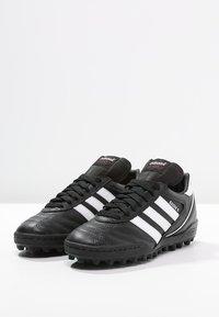 adidas Performance - KAISER 5 TEAM TF - Astro turf trainers - black/running white - 2