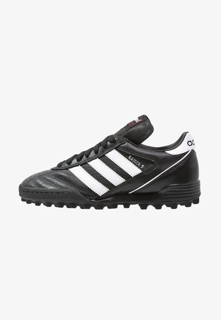 adidas Performance - KAISER 5 TEAM TF - Chaussures de foot multicrampons - black/running white