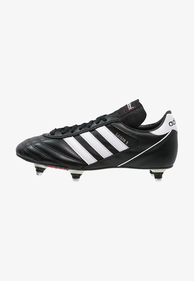 KAISER 5 CUP - Botas de fútbol - black/white/red