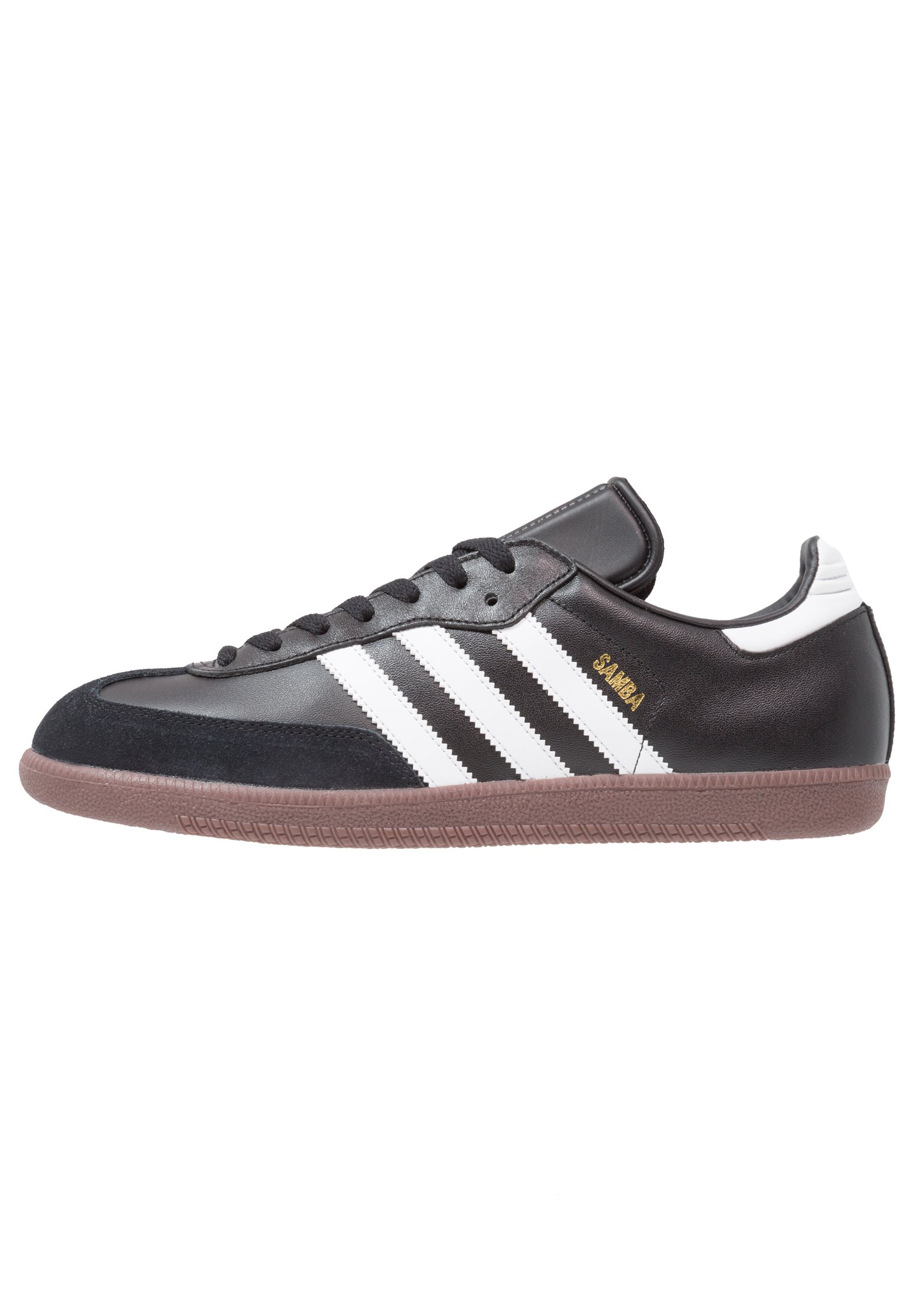 SAMBA LEATHER FOOTBALL SHOES INDOOR - Sneakers laag - black/run white