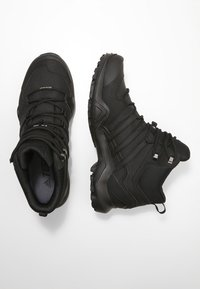 adidas Performance - TERREX SWIFT R2 MID GORE TEX HIKING SHOES - Hiking shoes - core black - 1