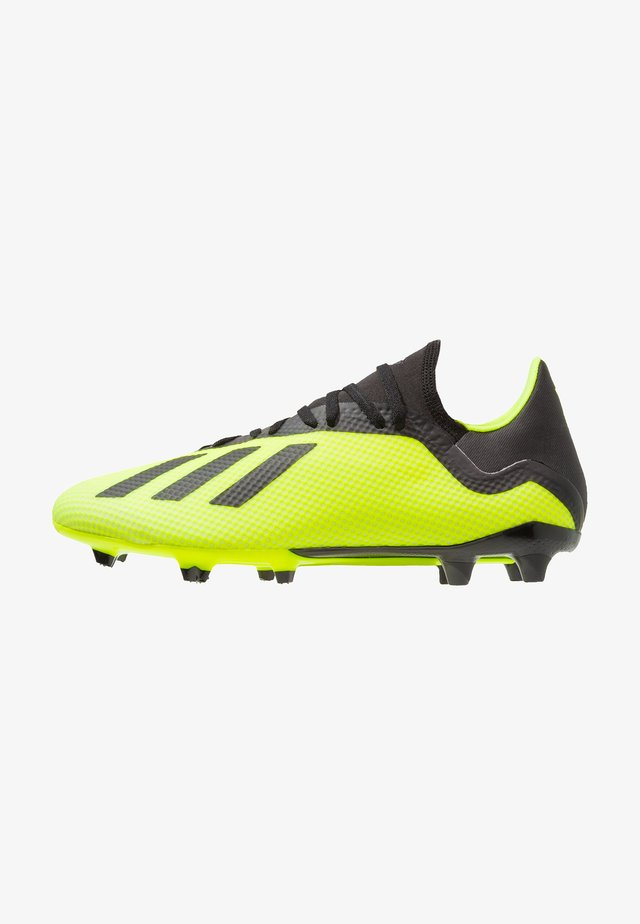 X 18.3 FG - Moulded stud football boots - solar yellow/core black/footwear white