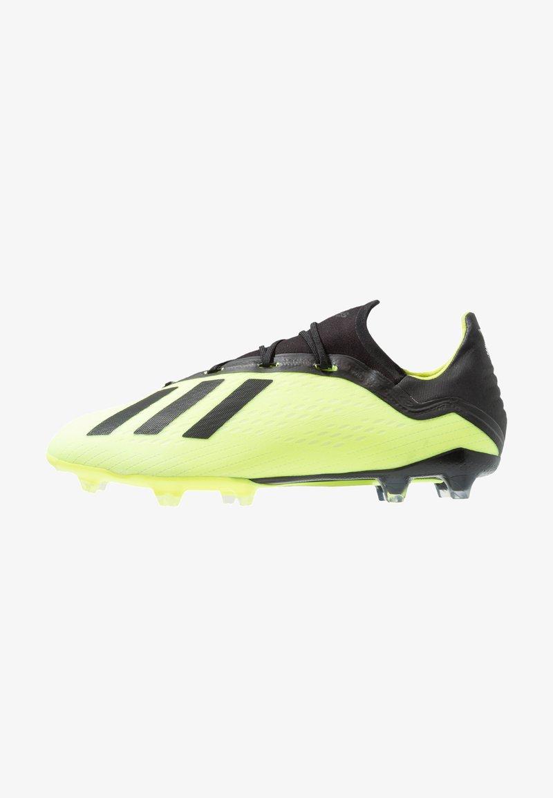 adidas Performance - X 18.2 FG - Fußballschuh Nocken - solar yellow/core black/footwear white