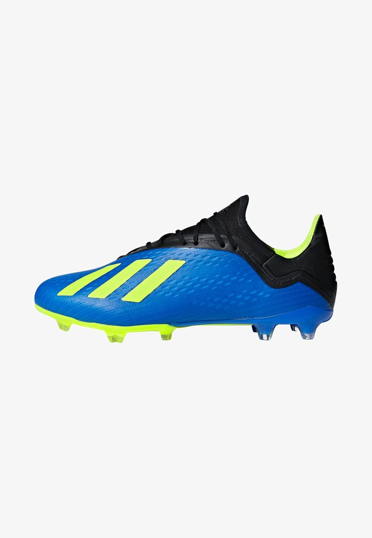 adidas Performance - X 18.2 FG - Moulded stud football boots - fooblu/syello/cblack