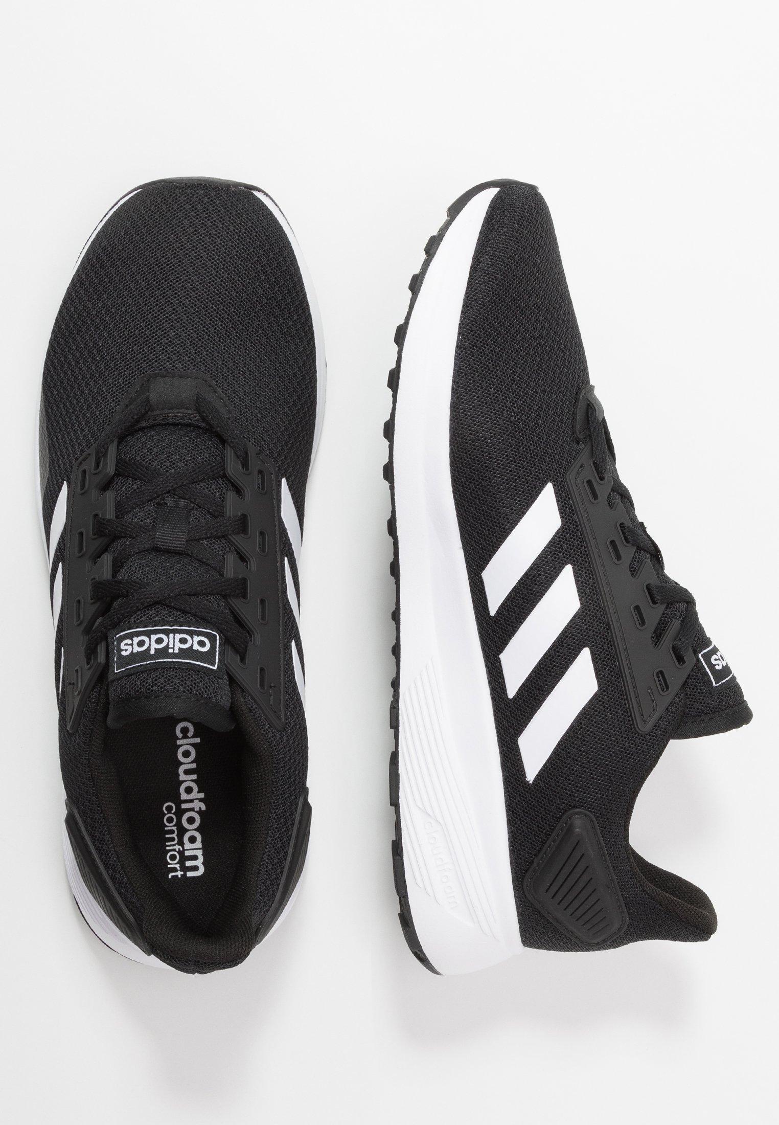 adidas Performance DURAMO 9 - Obuwie do biegania treningowe - core black/footwear white