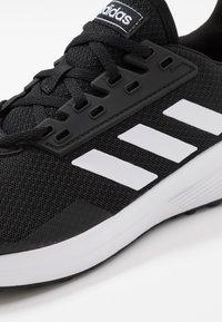 adidas Performance - DURAMO 9 - Juoksukenkä/neutraalit - core black/footwear white - 5