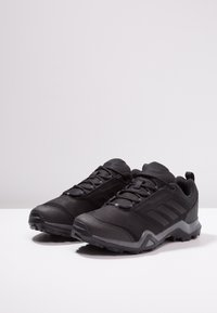 adidas Performance - TERREX BRUSHWOOD LEATHER HIKING SHOES - Hiking shoes - core black/grey five - 2