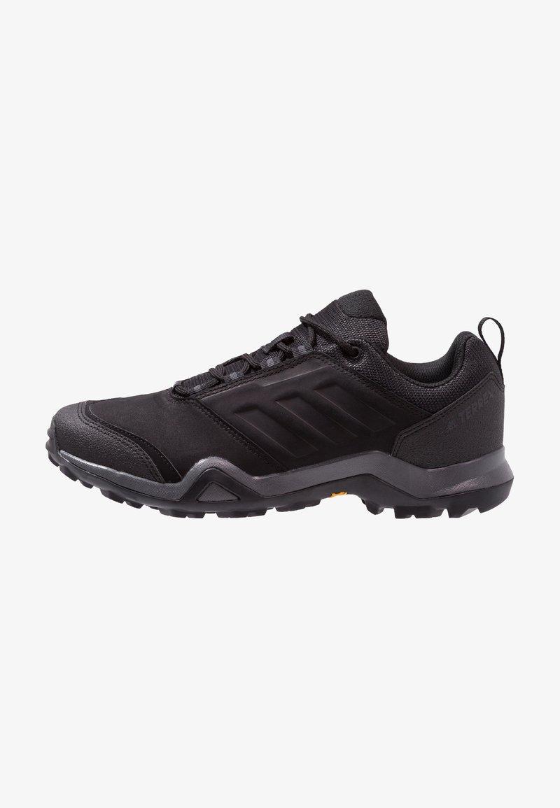 adidas Performance - TERREX BRUSHWOOD LEATHER HIKING SHOES - Hikingskor - core black/grey five