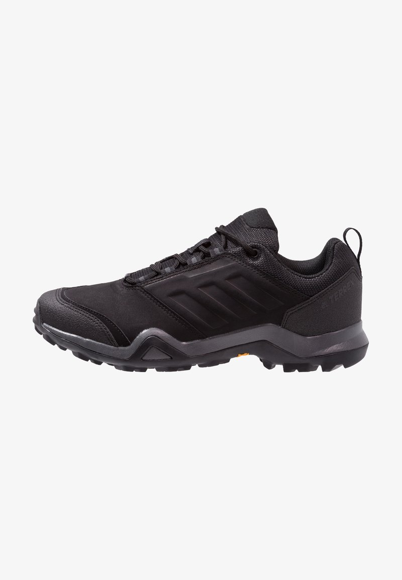 adidas Performance - TERREX BRUSHWOOD LEATHER HIKING SHOES - Hiking shoes - core black/grey five