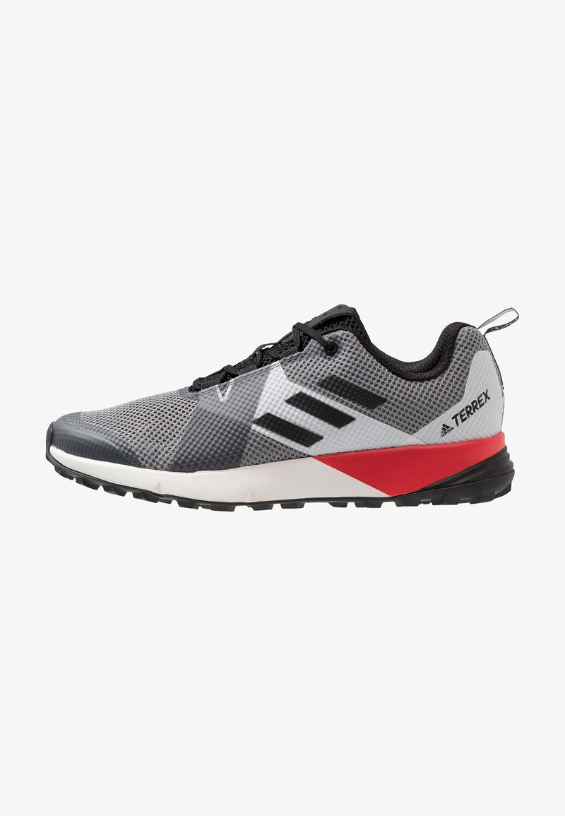 adidas Performance - TERREX TWO - Laufschuh Trail - grey three/clear black/active red