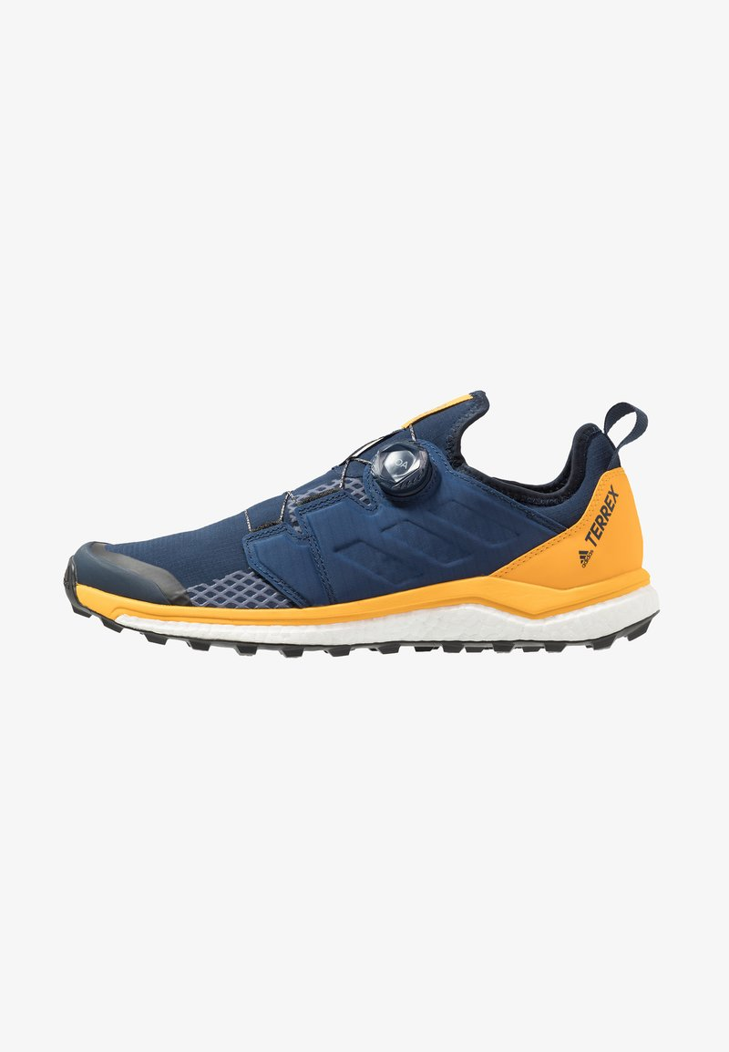 adidas Performance - TERREX AGRAVIC BOA TRAIL RUNNING SHOES - Vaelluskengät - collegiate navy/activ gold
