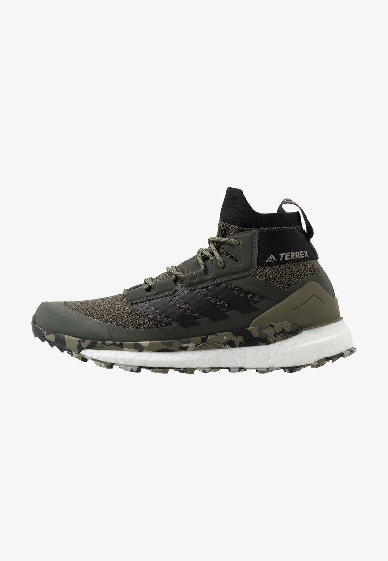 adidas Performance - TERREX FREE HIKER - Zapatillas de senderismo - raw khaki/core black
