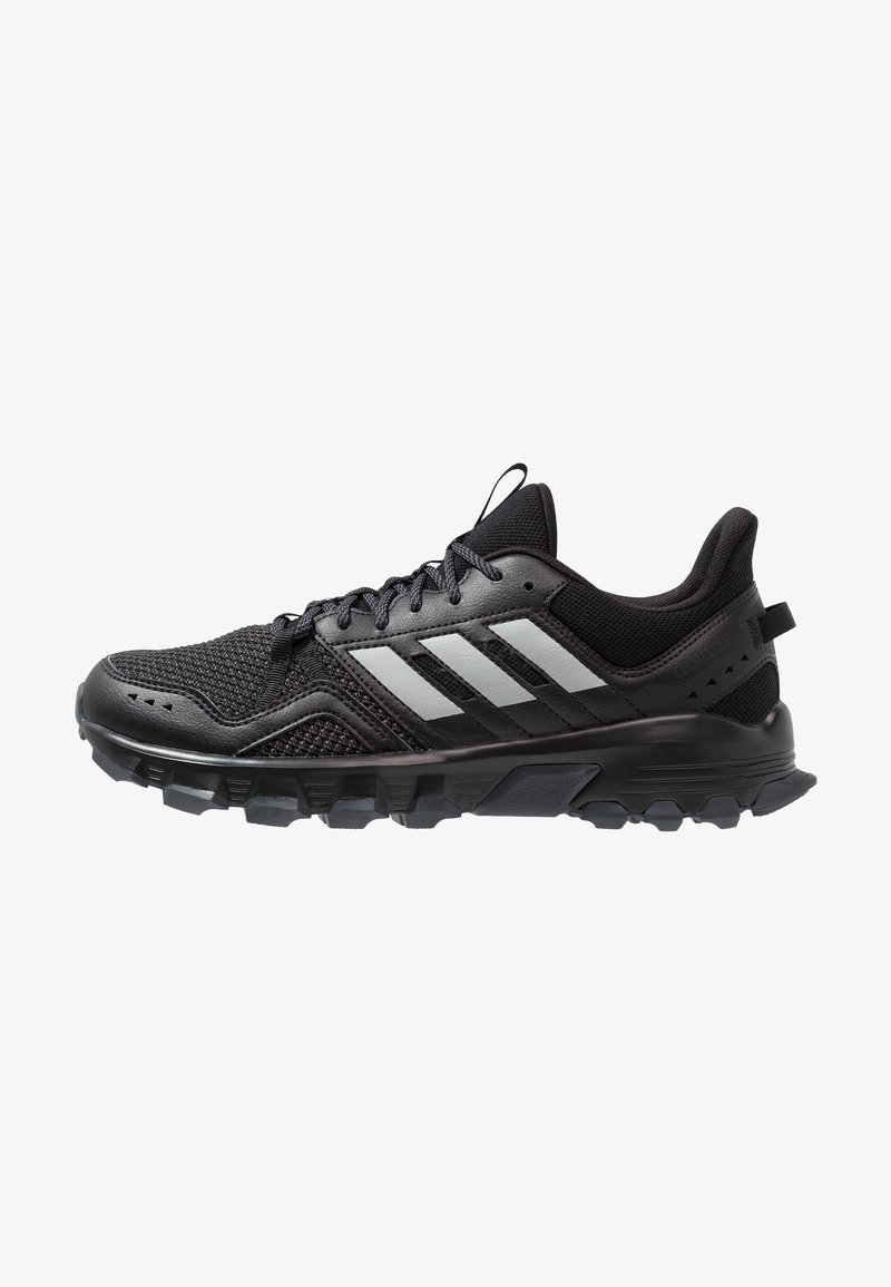 adidas Performance - ROCKADIA TRAIL - Trail running shoes - core black/grey two/grey six