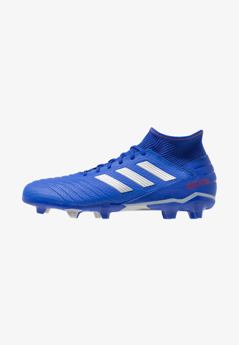 adidas Performance - PREDATOR 19.3 FG - Fußballschuh Nocken - bold blue/silver metallic/active red