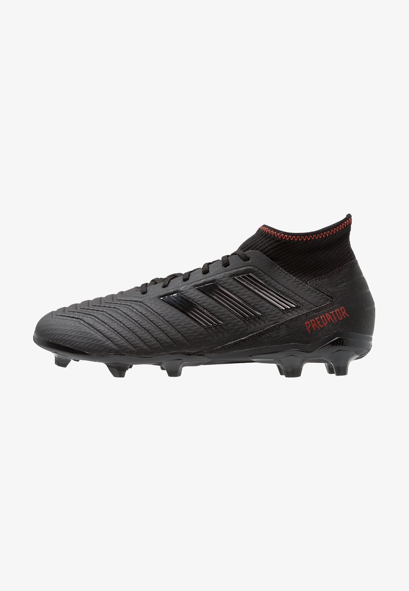 adidas Performance - PREDATOR 19.3 FG - Fußballschuh Nocken - core black/active red