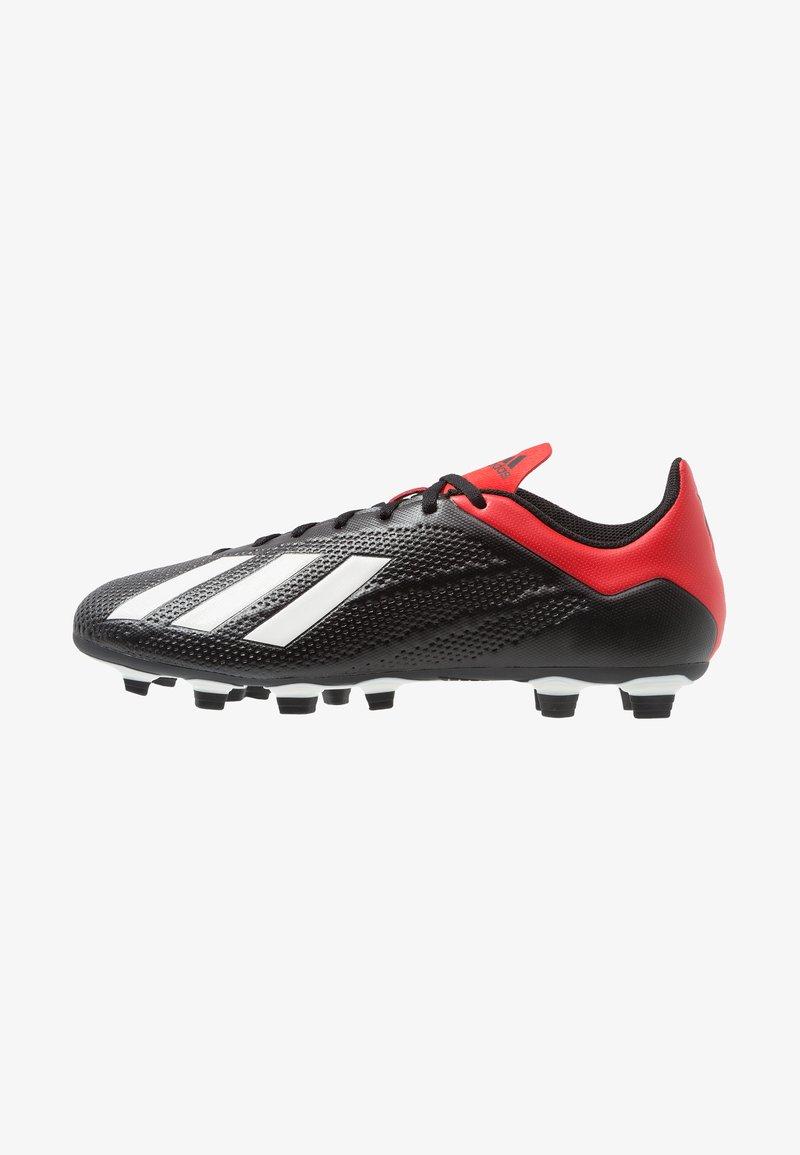 adidas Performance - X 18.4 FG - Voetbalschoenen met kunststof noppen - core black/offwhite/active red