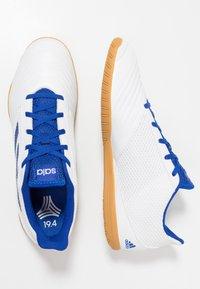 adidas Performance - PREDATOR 19.4 IN SALA - Fotbollsskor inomhusskor - footwear white/bold blue - 1