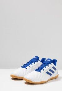 adidas Performance - PREDATOR 19.4 IN SALA - Fotbollsskor inomhusskor - footwear white/bold blue - 2