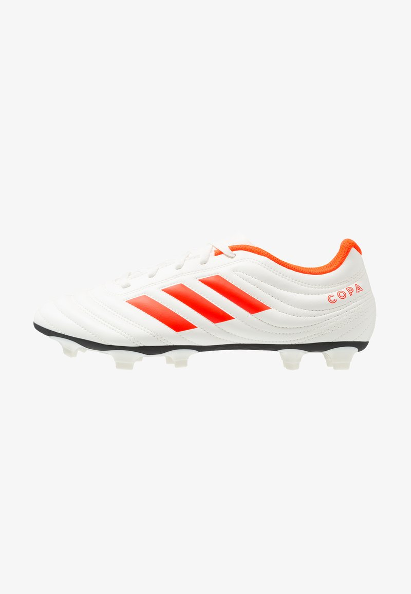 adidas Performance - COPA 19.4 FG - Chaussures de foot à crampons - offwhite/solar red/core black