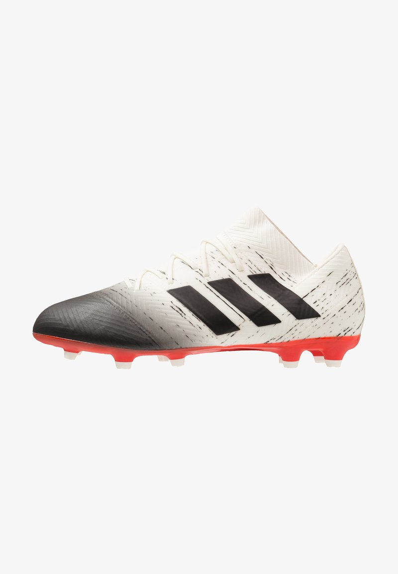 adidas Performance - NEMEZIZ 18.2 FG - Fußballschuh Nocken - offwhite/core black/active red