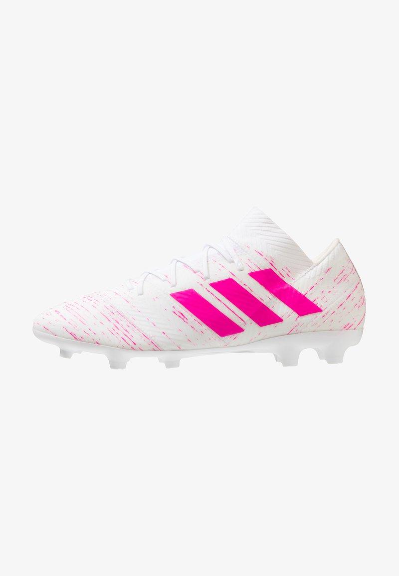 adidas Performance - NEMEZIZ 18.2 FG - Fußballschuh Nocken - footwear white/shock pink