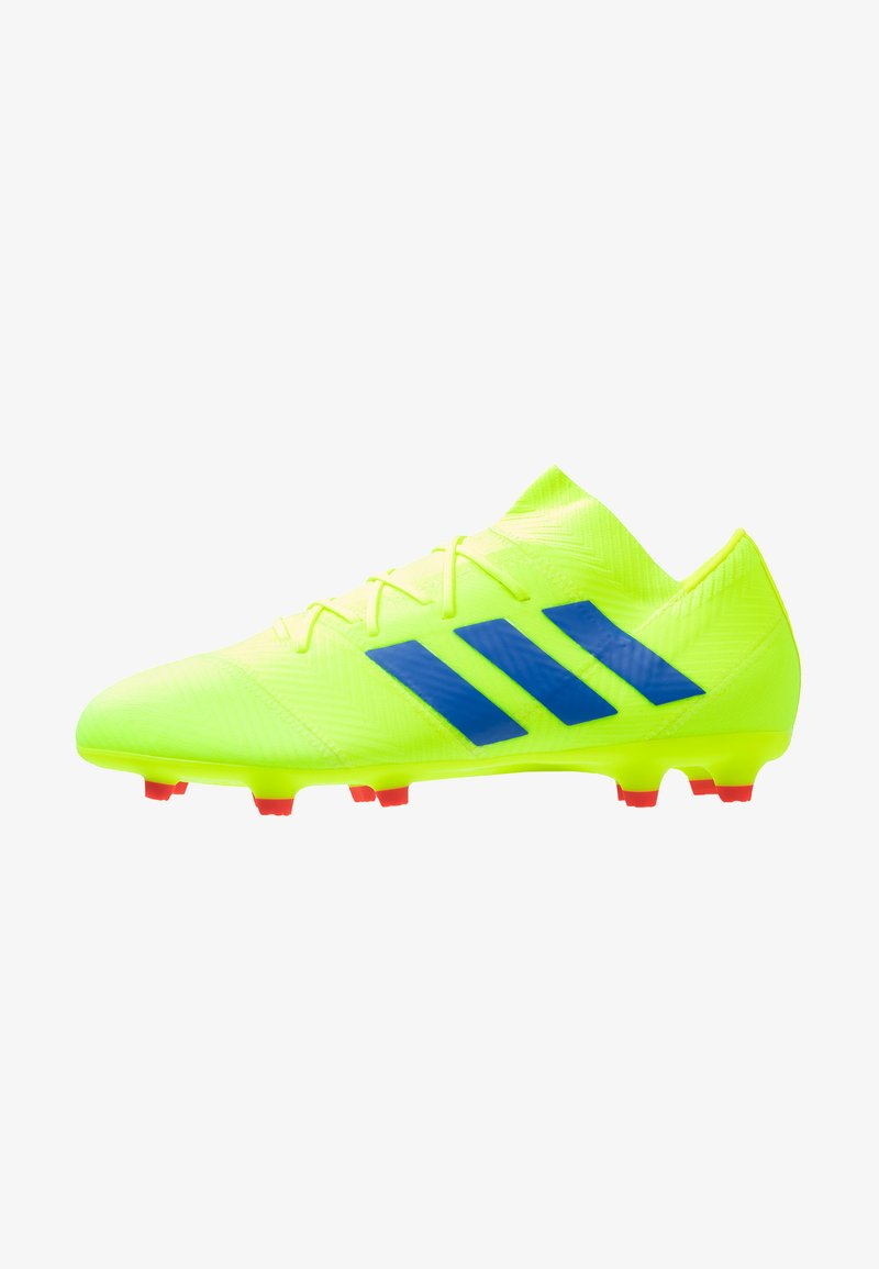 adidas Performance - NEMEZIZ 18.2 FG - Fußballschuh Nocken - solar yellow/football blue/active red