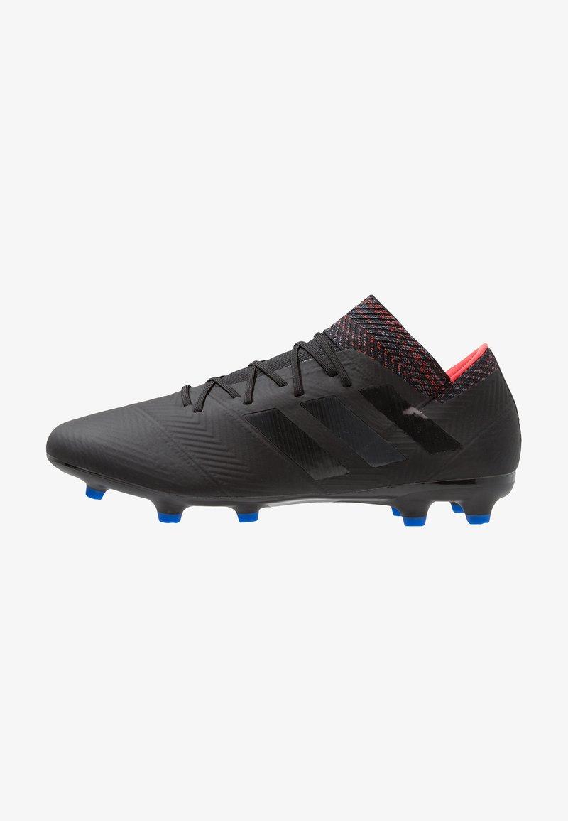 adidas Performance - NEMEZIZ 18.2 FG - Fußballschuh Nocken - core black/football blue