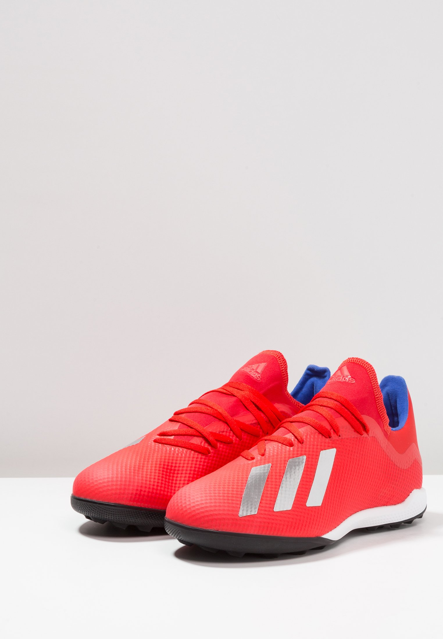 Adidas Performance X 18.3 Tf - Chaussures De Foot Multicrampons Active Red/silver Metallic/bold Blue