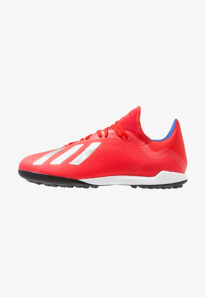 adidas Performance - X 18.3 TF - Chaussures de foot multicrampons - active red/silver metallic/bold blue