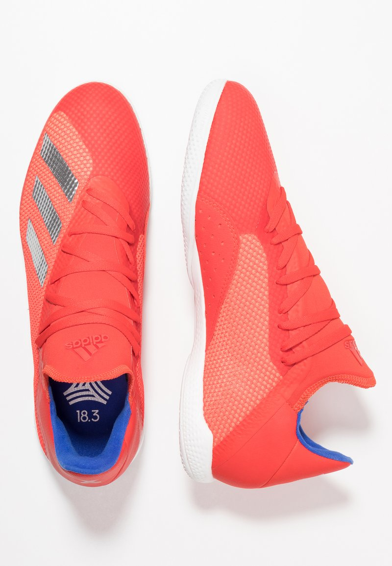 adidas Performance - X 18.3 IN - Fußballschuh Halle - active red/silver metallic/bold blue
