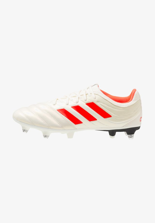 COPA 19.3 SG - Screw-in stud football boots - offwhite/solar red/core black