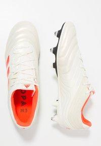 adidas Performance - COPA 19.3 SG - Kopačky s kolíky - offwhite/solar red/core black - 1