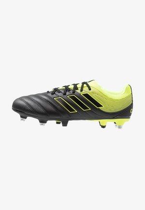 COPA 19.3 SG - Botas de fútbol - core black/solar yellow